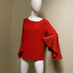 Chelsea & Theodore Red Blouse Size Medium NWT